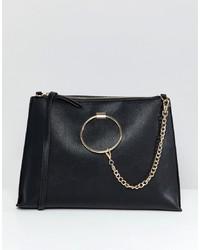 7327bafe281 ... Aldo Croc Oversized Clutch Bag With Chain Detail