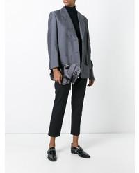 Thom Browne Elephant Clutch In Black Calf Leather