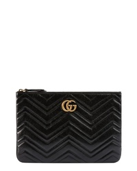 Gucci Gg Marmont 20 Matelasse Leather Pouch