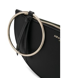 Sara Battaglia Half Moon Clutch Bag