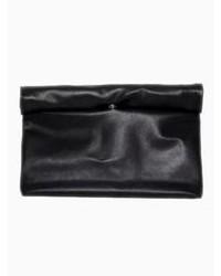 Choies Hand Made Soft Hemming Clutch Bag In Black