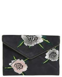 Leo nubuck clutch black medium 4984577