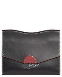 Proenza Schouler Medium Calfskin Leather Clutch Black