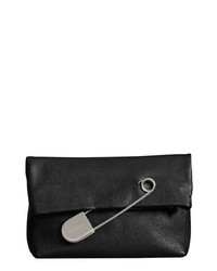 Burberry Medium Safety Pin Leather Clutch