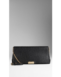 Burberry Medium Signature Grain Leather Clutch Bag