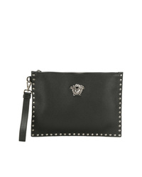 a2bf8d36706b Women s Black Leather Clutches by Versace