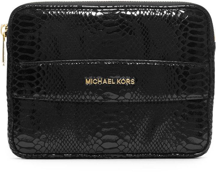 36ddfe13cf22 ... usa michael michael kors michl michl kors mini tablet clutch bag black  202d2 113d9