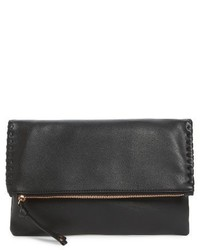 Sole Society Rifkie Faux Leather Foldover Clutch Red