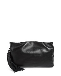Rebecca Minkoff Ruby Ruched Leather Clutch