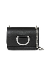 Burberry The Mini Leather Crystal D Ring Bag
