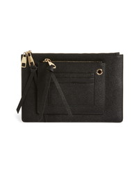 8 Other Reasons X Jill Jacobs Saffiano Leather Zip Pouch