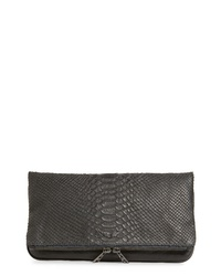 Zadig & Voltaire Zagid Voltaire Rock Savage Croc Embossed Leather Clutch