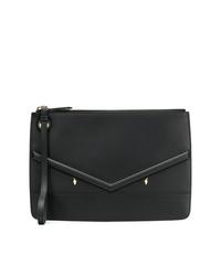 Fendi Zipped Appliqu Clutch Bag