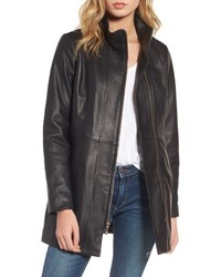 Cole Haan Leather Car Coat