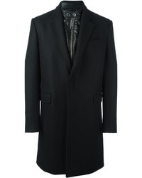 Les Hommes Built In Band Collar Coat