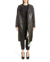 Toga Long Leather Coat