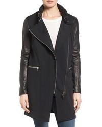 Rudsak Mixed Media Leather Sleeve Jacket