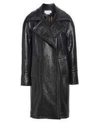 Yigal Azrouel Oversized Laminated Tweed Coat