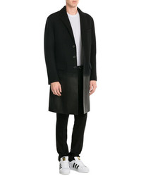 Neil Barrett Virgin Wool Coat With Leather