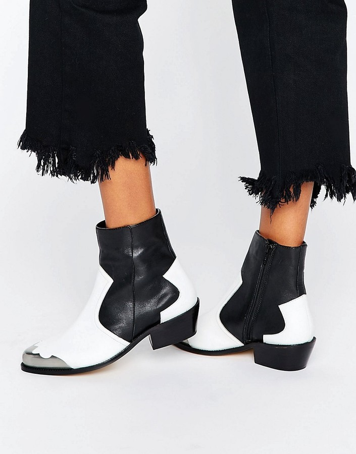 ceb4c0d67c3 $98, Asos Aphrodite Leather Western Ankle Boots