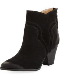 Splendid Asher Leather Western Bootie Black