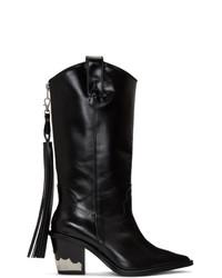Toga Pulla Black Cowboy Boots