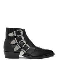 Toga Virilis Black Four Western Boots