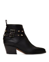 Valentino Black Garavani Cowboy Boots