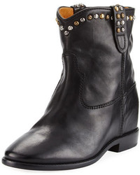 Isabel Marant Cluster Hidden Wedge Western Boot Black