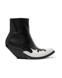 Vetements Kick Ass Two Tone Leather Ankle Boots