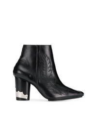 Toga Pulla Pointed Western Ankle Boots