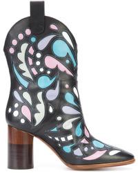 Maison Margiela Printed Cowboy Boots