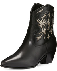 Saint Laurent Rock Snake Inset 40mm Western Boot Roccianero