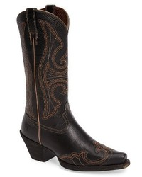 Round up d toe wingtip western boot medium 4017419