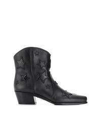 Miu Miu Star Appliqud Cowboy Boots