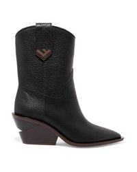 Fendi Textured Leather Boots