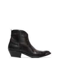 Golden Goose Deluxe Brand Young Leather Cowboy Ankle Boots