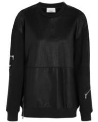 3.1 Phillip Lim Stretch Leather And Cotton Sweatshirt