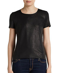 Georgie faux leather tee medium 85694