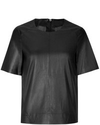 J Brand Leather T Shirt
