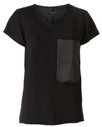 Rag and Bone Rag Bone Leather Pocket T Shirt