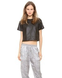 Alexander Wang T By Lightweight Leather Tee