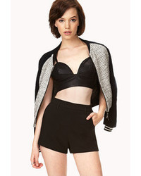 Forever 21 Daring Faux Leather Crop Top