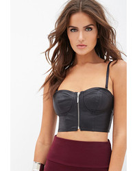 Forever 21 Faux Leather Bustier