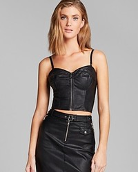 GUESS Bustier Faux Leather Moto