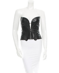 J. Mendel Leather Top