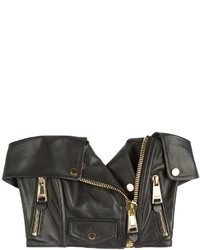 Moschino Leather Crop Top