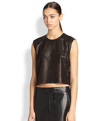 Helmut Lang Perforated Leather Cropped Top