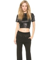 Alexander Wang T By Mock Neck Scuba Tee