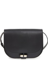 A.P.C. Sac June Leather Shoulder Bag Black